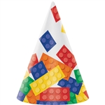 Building Block Cone Party Hat
