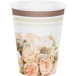 Rose Gold Bouquet 12oz Paper Cups