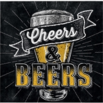 Beers & Cheers Beverage Napkins
