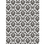 Black and White Damask Photo Backdrop