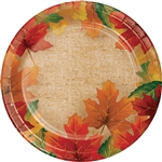 Rustic Leaves 9 Inch Plates