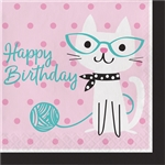 Purr-Fect Party Birthday Luncheon Napkin