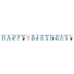Purr-Fect Party Happy Birthday Jointed Banner