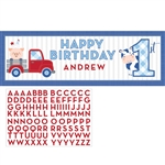 Farmhouse 1st Birthday Boy Giant Banner