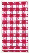 RED GINGHAM PLASTIC TABLECOVER