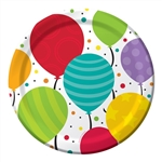 SHIMMERING BALLOONS 7 INCH PLATES