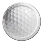 Golf Sports Fanatic 7 inch Dessert/Luncheon Plates