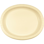 Ivory Oval Paper Platters
