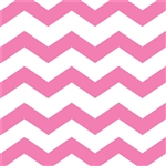 Candy Pink Chevron/Dots Beverage Napkins