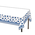 True Blue Polka Dots and Chevron Table Cover