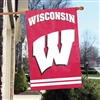 Univeristy of Wisconsin - Badgers Applique Banner Flag