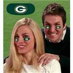 Green Bay Packers Vinyl Face Decorations