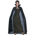 FULL LENGTH CAPE - BLACK