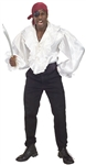 WHITE SATIN SHIRT - EXTRA LARGE