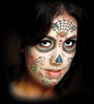 Sugar Skull Face Temporary Tattoo