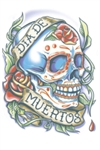 La Rosa Day of the Dead Temporary Tattoo