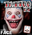 Clown Face Temporary Tattoo