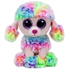 Rainbow Multicolor Poodle Beanie Baby