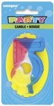 Rainbow Numeral Candle - #5