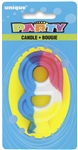Rainbow Numeral Candle - #9