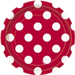 Ruby Red Polka Dots 7in Plates