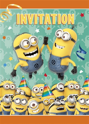 Despicable Me Minions Party Invitations Bartzs Party Stores