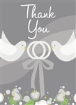 Silver Wedding Thank You Cards