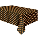 Orange & Black Polka Dots Table Cover
