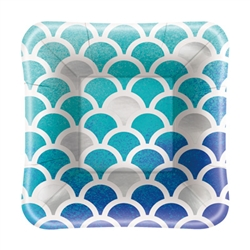 Ocean Blue Scallop 5 Inch Plates