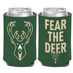 Milwaukee Bucks Fear the Deer Can Cooler