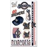 Milwaukee Brewers Temporary Tattoos Sheet