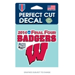 University Of Wisconsin - NCAA Final Four Die Cut Decal