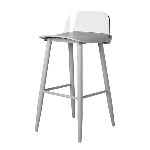 Nerd Replica Bar Stool in Grey