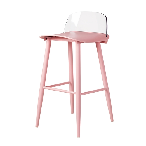 Nerd Replica Bar Stool in Pink