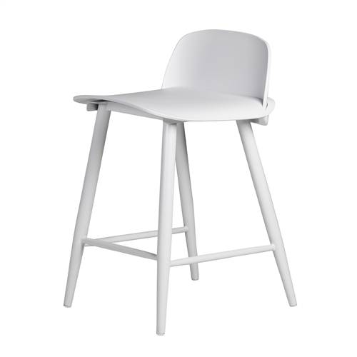 Nerd Replica Counter Stool in White