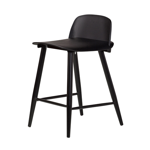 Nerd Replica Counter Stool in Black