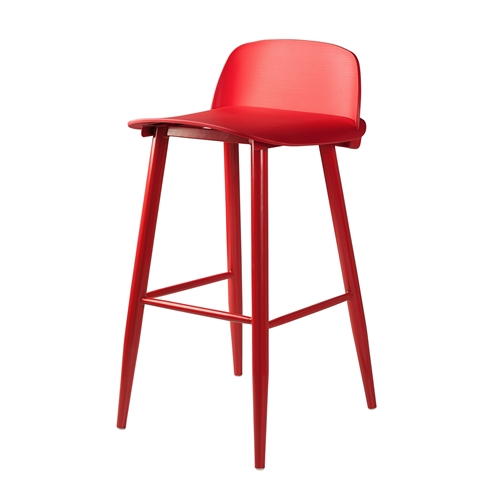 Nerd Replica Bar Stool in Red