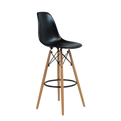 Charles Eames Style DSW Counter Stool - Black