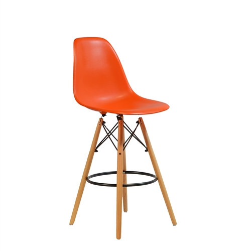 Charles Eames Style DSW Counter Stool - Orange