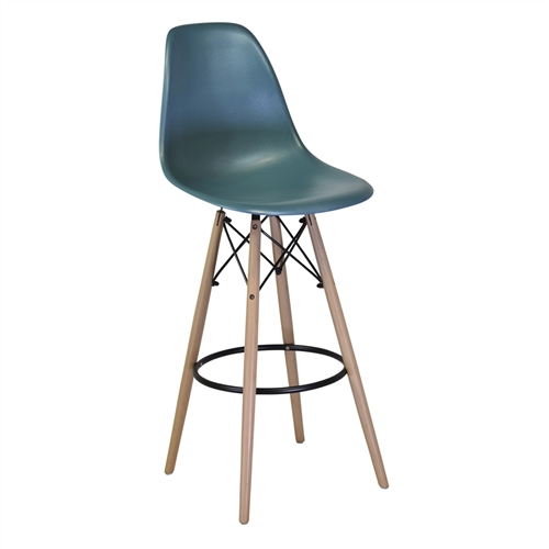 Charles Eames Style DSW Counter Stool - Teal Blue