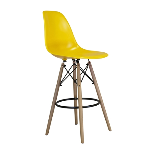Charles Eames Style DSW Counter Stool - Yellow