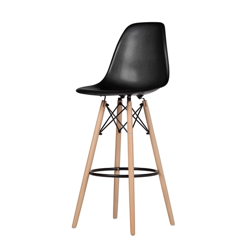Charles Eames Style DSW Bar Stool - Black