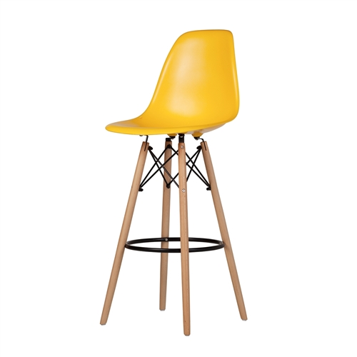 Charles Eames Style DSW Bar Stool - Yellow