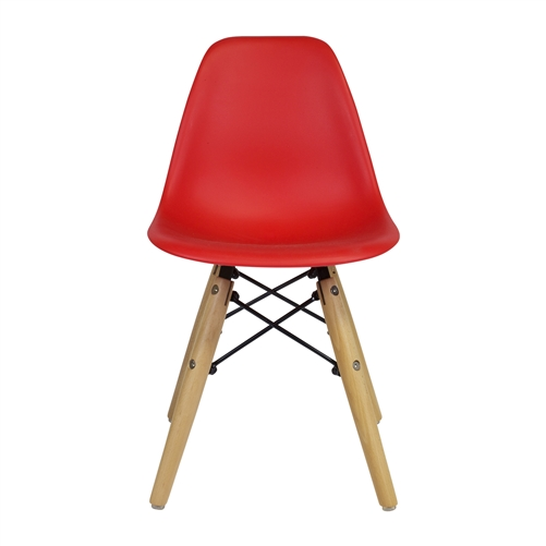 Charles Eames DSW Side Chair Mid Century Modern, Red