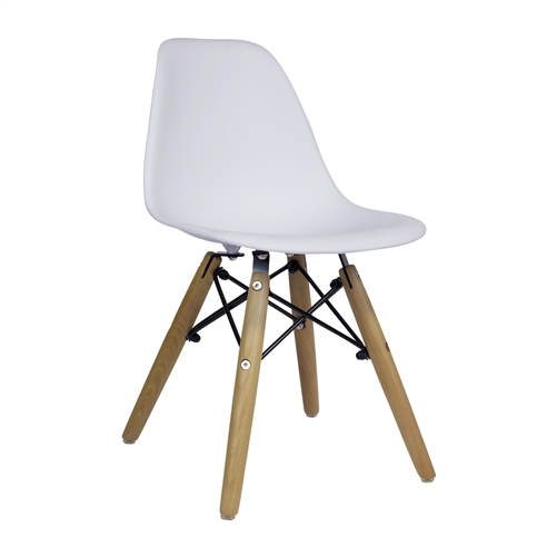 Charles Eames DSW Side Chair Mid Century Modern, White