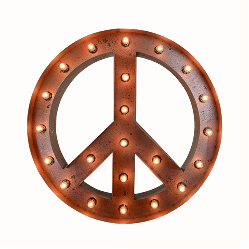 "24"" Peace Marquee Sign"