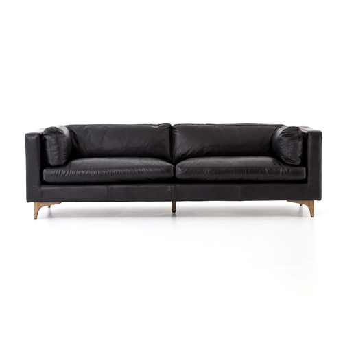 "Carnegie Beckwith 94"" Sofa- Rider Black"