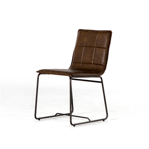 Irondale Stark Dining Chair in Distressed Brown