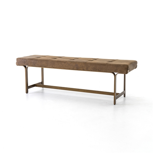 Lindy Bench in Umber Grey