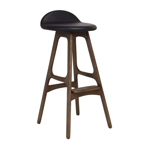 Erik Buck OD Mobler Teak Bar Stool, The Khazana